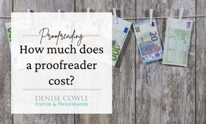 How much does a proofreader cost?