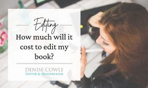 How much will it cost to edit my book?