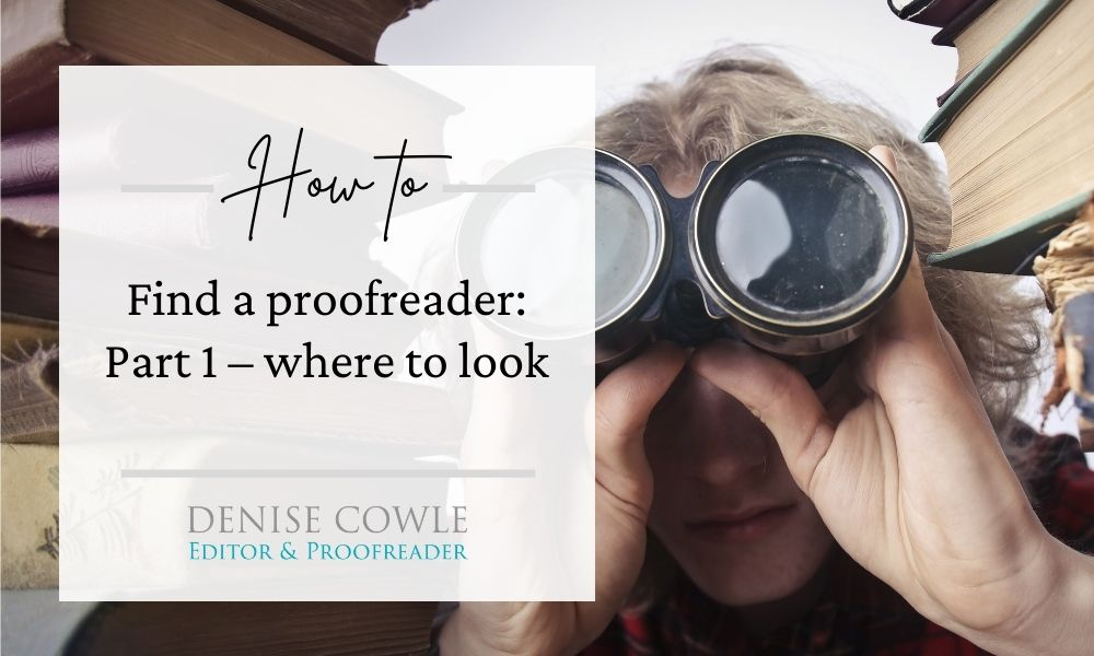 How to find a proofreader part 1 - where to look