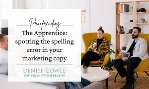 Spotting the spelling error in your marketing copy