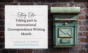 TAking part in International Correspondence Writing Month