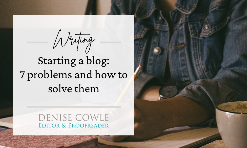 Seven problems when starting a blog and how to solve them