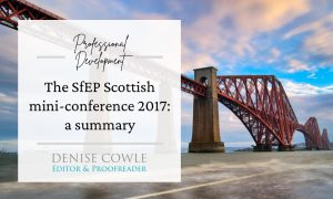 A review of the SfEP Scottish mini-conference 2017