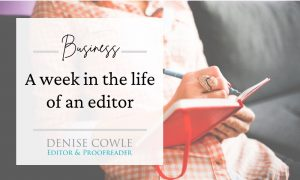 A week in the life of a non-fiction editor