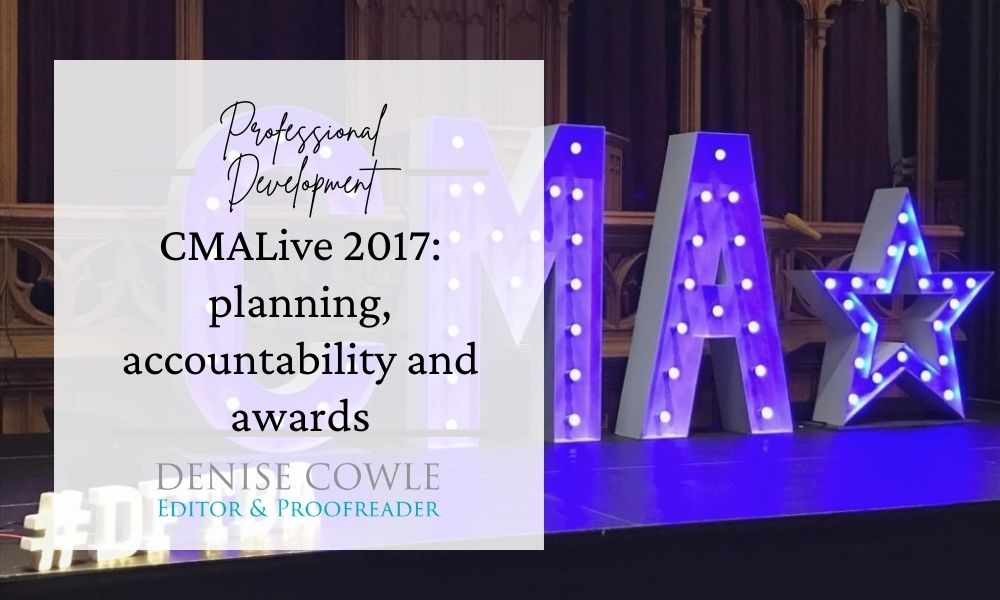 THe CMA Live 2017 conference: planning, accountability and awards