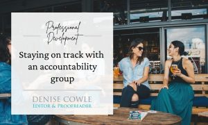 Staying on track with an accountability group