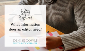 What information does an editor need?