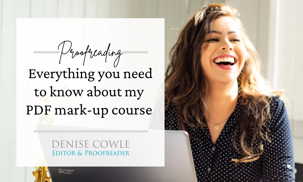 Everything you need to know about my PDF mark-up course
